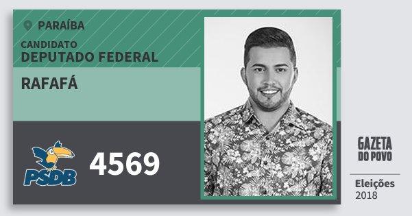 Santinho Rafafá 4569 (PSDB) Deputado Federal   Paraíba   Eleições 2018