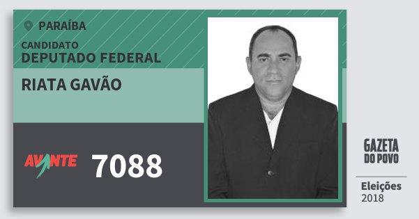 Santinho Riata Gavão 7088 (AVANTE) Deputado Federal | Paraíba | Eleições 2018