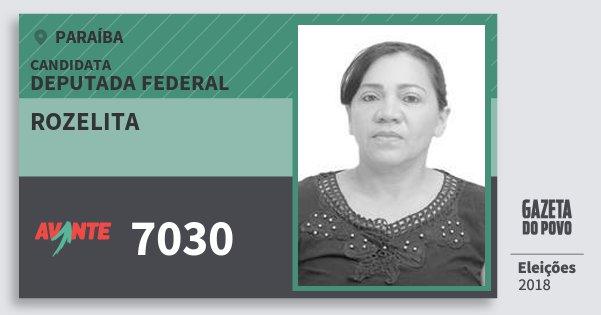 Santinho Rozelita 7030 (AVANTE) Deputada Federal | Paraíba | Eleições 2018
