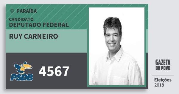 Santinho Ruy Carneiro 4567 (PSDB) Deputado Federal | Paraíba | Eleições 2018