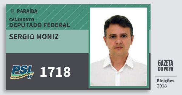 Santinho Sergio Moniz 1718 (PSL) Deputado Federal | Paraíba | Eleições 2018