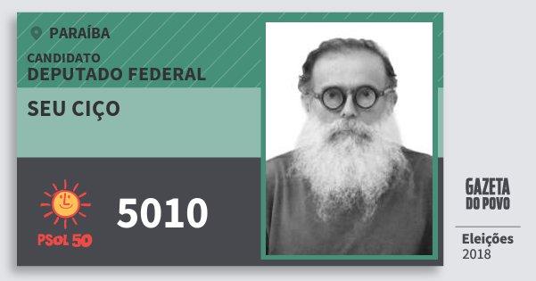Santinho Seu Ciço 5010 (PSOL) Deputado Federal | Paraíba | Eleições 2018