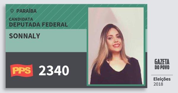 Santinho Sonnaly 2340 (PPS) Deputada Federal | Paraíba | Eleições 2018