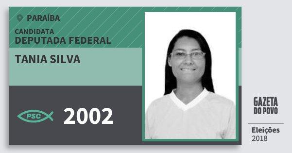 Santinho Tania Silva 2002 (PSC) Deputada Federal | Paraíba | Eleições 2018