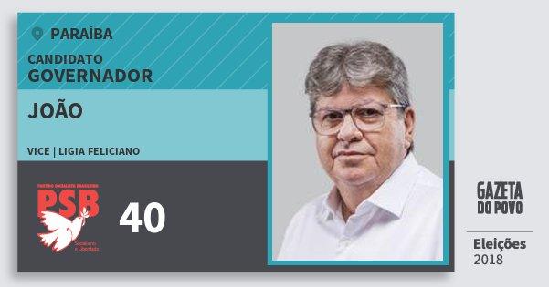 Santinho João 40 (PSB) Governador | Paraíba | Eleições 2018