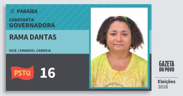 Santinho Rama Dantas 16 (PSTU) Governadora | Paraíba | Eleições 2018