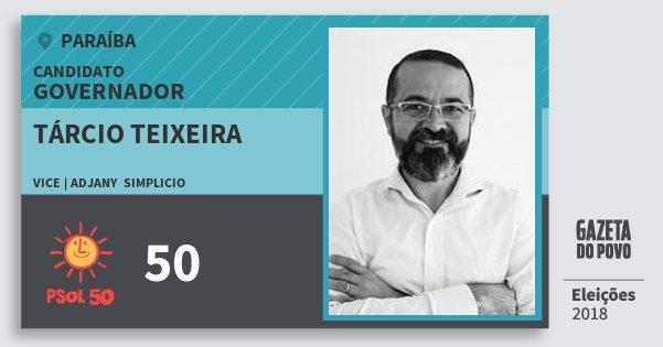 Santinho Tárcio Teixeira 50 (PSOL) Governador | Paraíba | Eleições 2018