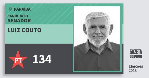 Santinho Luiz Couto 134 (PT) Senador | Paraíba | Eleições 2018