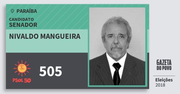 Santinho Nivaldo Mangueira 505 (PSOL) Senador | Paraíba | Eleições 2018