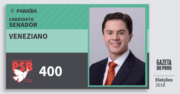 Santinho Veneziano 400 (PSB) Senador   Paraíba   Eleições 2018