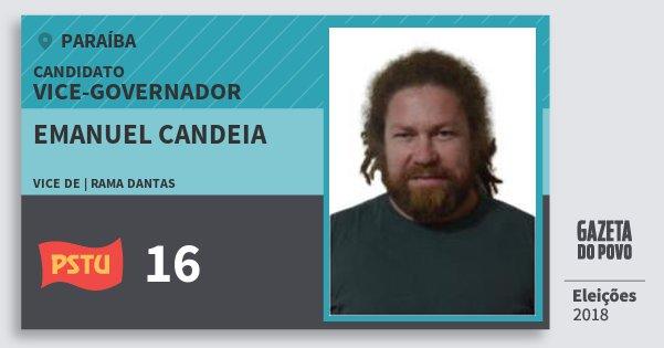 Santinho Emanuel Candeia 16 (PSTU) Vice-governador | Paraíba | Eleições 2018