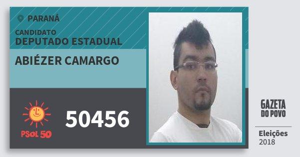 Santinho Abiézer Camargo 50456 (PSOL) Deputado Estadual | Paraná | Eleições 2018