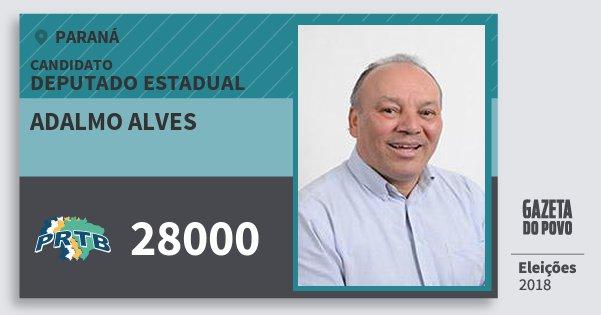 Santinho Adalmo Alves 28000 (PRTB) Deputado Estadual | Paraná | Eleições 2018