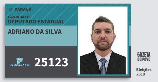Santinho Adriano da Silva 25123 (DEM) Deputado Estadual | Paraná | Eleições 2018