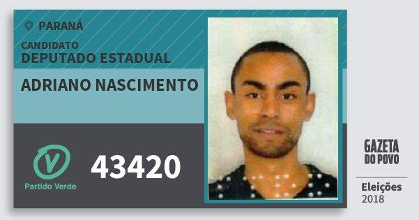 Santinho Adriano Nascimento 43420 (PV) Deputado Estadual | Paraná | Eleições 2018