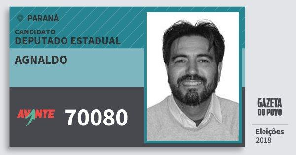Santinho Agnaldo 70080 (AVANTE) Deputado Estadual | Paraná | Eleições 2018
