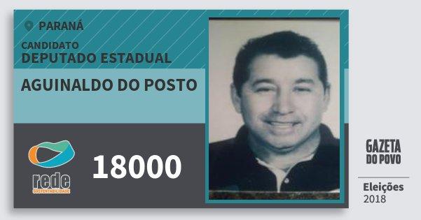 Santinho Aguinaldo do Posto 18000 (REDE) Deputado Estadual | Paraná | Eleições 2018