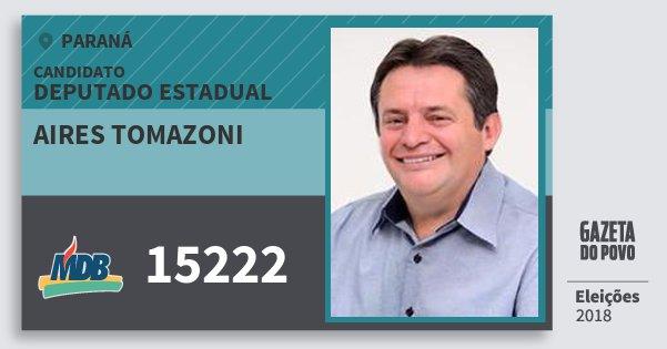 Santinho Aires Tomazoni 15222 (MDB) Deputado Estadual | Paraná | Eleições 2018