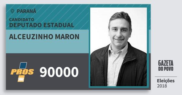Santinho Alceuzinho Maron 90000 (PROS) Deputado Estadual | Paraná | Eleições 2018