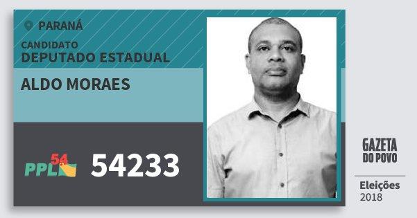 Santinho Aldo Moraes 54233 (PPL) Deputado Estadual | Paraná | Eleições 2018