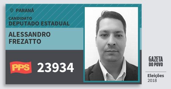 Santinho Alessandro Frezatto 23934 (PPS) Deputado Estadual | Paraná | Eleições 2018
