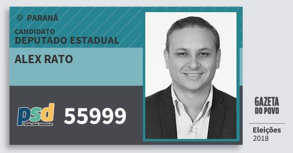 Santinho Alex Rato 55999 (PSD) Deputado Estadual | Paraná | Eleições 2018