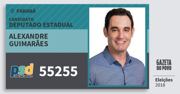 Santinho Alexandre Guimarães 55255 (PSD) Deputado Estadual | Paraná | Eleições 2018