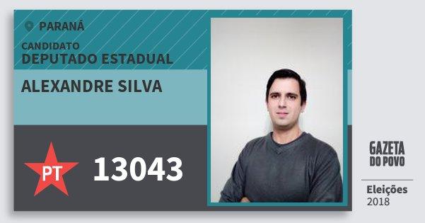Santinho Alexandre Silva 13043 (PT) Deputado Estadual   Paraná   Eleições 2018