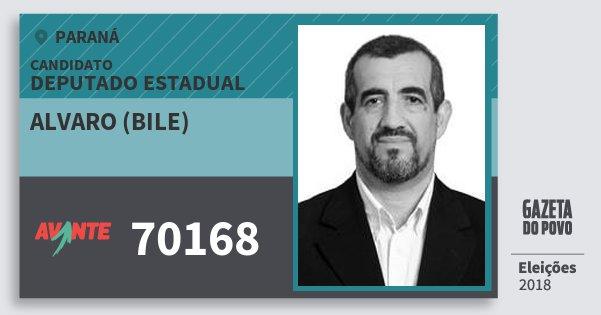 Santinho Alvaro (Bile) 70168 (AVANTE) Deputado Estadual | Paraná | Eleições 2018