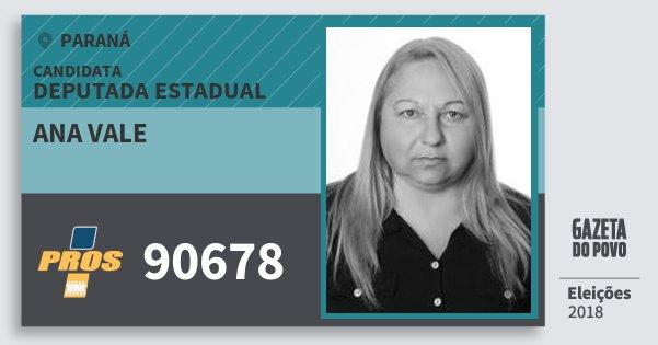 Santinho Ana Vale 90678 (PROS) Deputada Estadual | Paraná | Eleições 2018