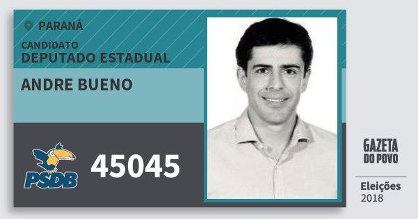 Santinho Andre Bueno 45045 (PSDB) Deputado Estadual | Paraná | Eleições 2018