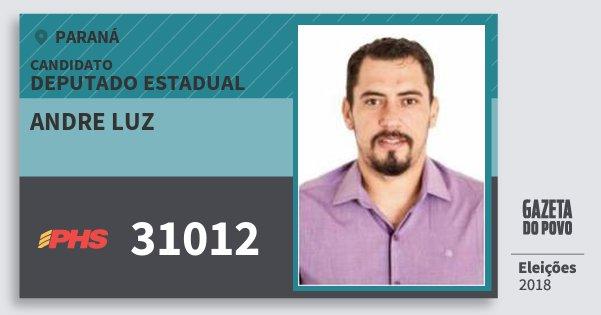 Santinho Andre Luz 31012 (PHS) Deputado Estadual | Paraná | Eleições 2018