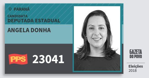 Santinho Angela Donha 23041 (PPS) Deputada Estadual | Paraná | Eleições 2018