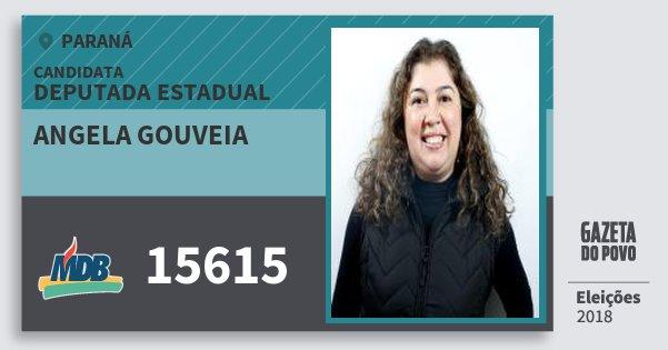 Santinho Angela Gouveia 15615 (MDB) Deputada Estadual | Paraná | Eleições 2018