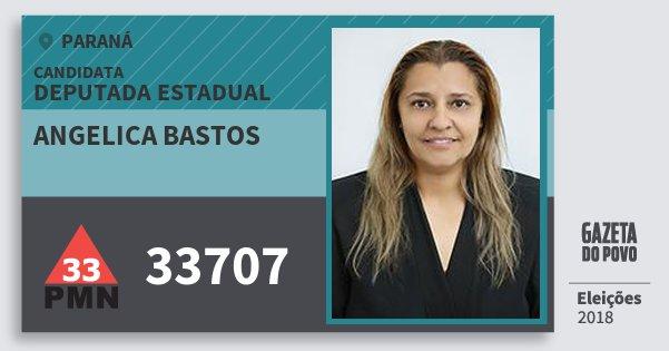 Santinho Angelica Bastos 33707 (PMN) Deputada Estadual | Paraná | Eleições 2018