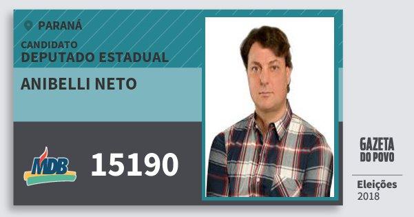Santinho Anibelli Neto 15190 (MDB) Deputado Estadual | Paraná | Eleições 2018