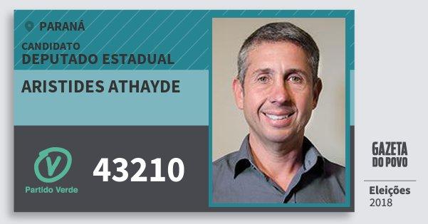 Santinho Aristides Athayde 43210 (PV) Deputado Estadual | Paraná | Eleições 2018