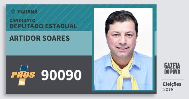 Santinho Artidor Soares 90090 (PROS) Deputado Estadual | Paraná | Eleições 2018