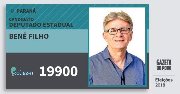 Santinho Benê Filho 19900 (PODE) Deputado Estadual | Paraná | Eleições 2018