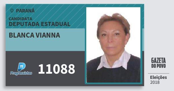 Santinho Blanca Vianna 11088 (PP) Deputada Estadual | Paraná | Eleições 2018