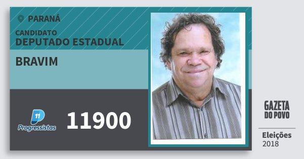 Santinho Bravim 11900 (PP) Deputado Estadual | Paraná | Eleições 2018