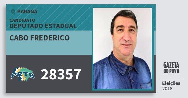 Santinho Cabo Frederico 28357 (PRTB) Deputado Estadual | Paraná | Eleições 2018