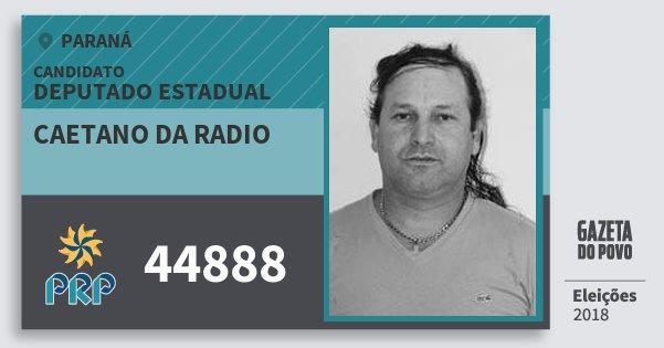 Santinho Caetano da Radio 44888 (PRP) Deputado Estadual | Paraná | Eleições 2018