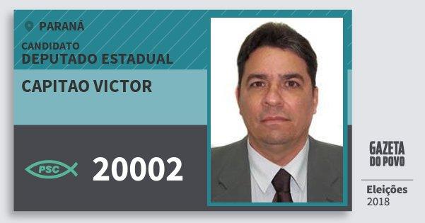 Santinho Capitao Victor 20002 (PSC) Deputado Estadual | Paraná | Eleições 2018