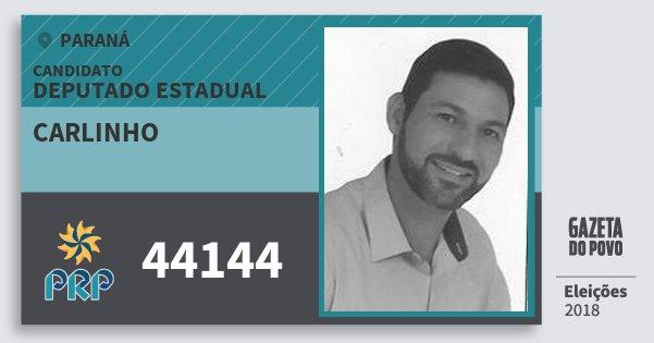 Santinho Carlinho 44144 (PRP) Deputado Estadual | Paraná | Eleições 2018