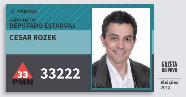 Santinho Cesar Rozek 33222 (PMN) Deputado Estadual | Paraná | Eleições 2018