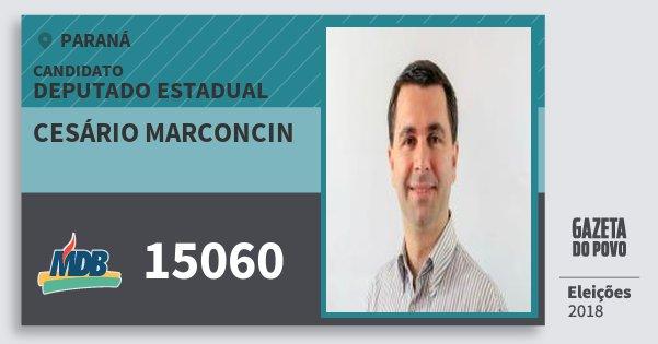 Santinho Cesário Marconcin 15060 (MDB) Deputado Estadual | Paraná | Eleições 2018