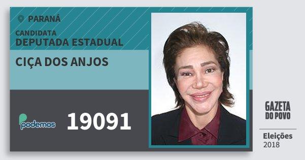 Santinho Ciça dos Anjos 19091 (PODE) Deputada Estadual | Paraná | Eleições 2018