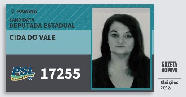 Santinho Cida do Vale 17255 (PSL) Deputada Estadual | Paraná | Eleições 2018
