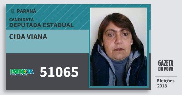 Santinho Cida Viana 51065 (PATRI) Deputada Estadual | Paraná | Eleições 2018